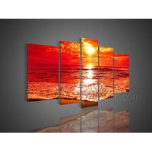Arte de la pared Pintura al óleo hermosa del paisaje marino en el arte de la lona (SE-190)