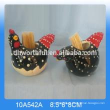 Heißer Verkaufsqualitätskeramischer Zahnstocherhalter mit Hahnform