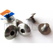 Gr5 titanium cup head square neck bolt