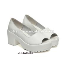 SR-14WHE983 mujeres de moda zapatos de tacón alto mujeres zapatos de cuero genuino zapatos de cuero genuino de señoras