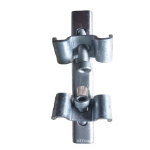 Double clamp galvanized steel grating clip