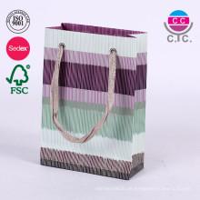 Mode-Set von 6 Papier Shopping Tragetasche mit Griff