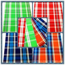 Camisa de moda 100% tejido teñido con hilo de algodón