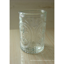 Clear Glass Candle Holder, Candle Jar