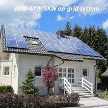PV 3kw / 4kw / 5kw solar en sistema de la azotea de la rejilla