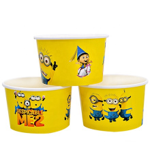 funny design style festival events travel party kraft ice cream paper cup with lid cover supplier in anhui shengzhen zhejiang