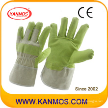 Vinyl Artificial Leather Industrial Safety Work Gloves (41015)