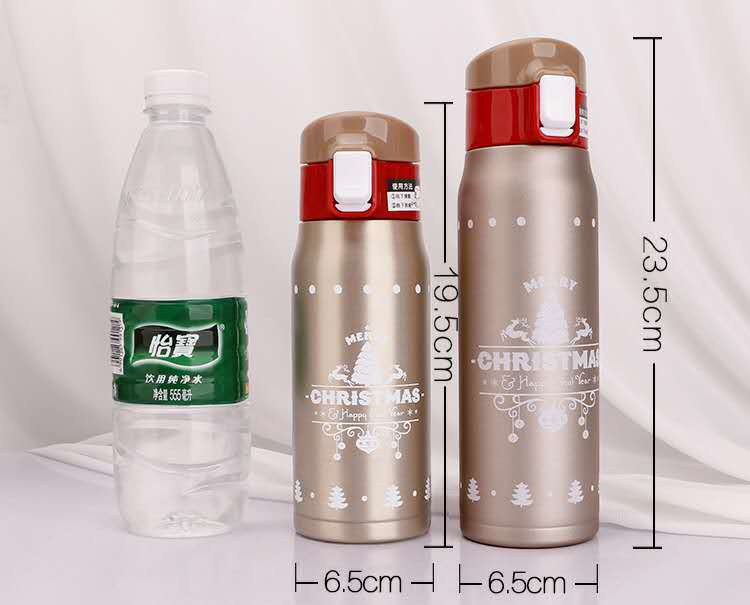 Stainless Steel Christmas Thermos