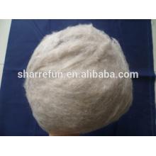 100% pure fibre de laine de chèvre mauve marron