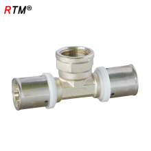 A 17 brass pipe fitting press fitting female tee brass fitting