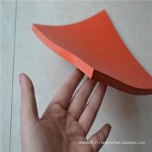 Tampon en caoutchouc de feuille de caoutchouc rouge SBR de 10mm