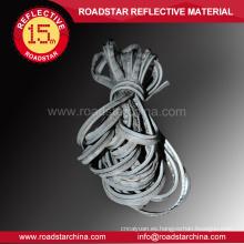 Modificado para requisitos particulares Ribetes reflectantes color gris plata para ropa deportiva