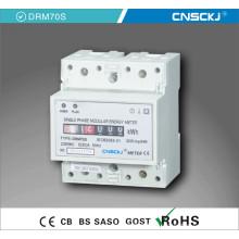 Medidor de carril DIN monofásico 4p