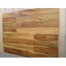 Barato Revestimento de madeira da acácia pequena Handscraped da noz preta da mancha da noz