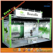 aluminium truss exhibit display stand for trade show, lighting truss display stand