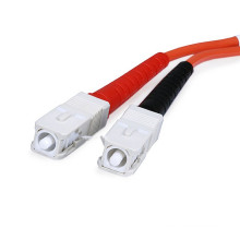 Preço de fábrica duplex sc sc fibra óptica patch cabo com UPC 0.9mm