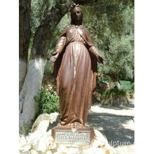 Outdoor Decorative Landscape Bronze Virgin Mary Statue