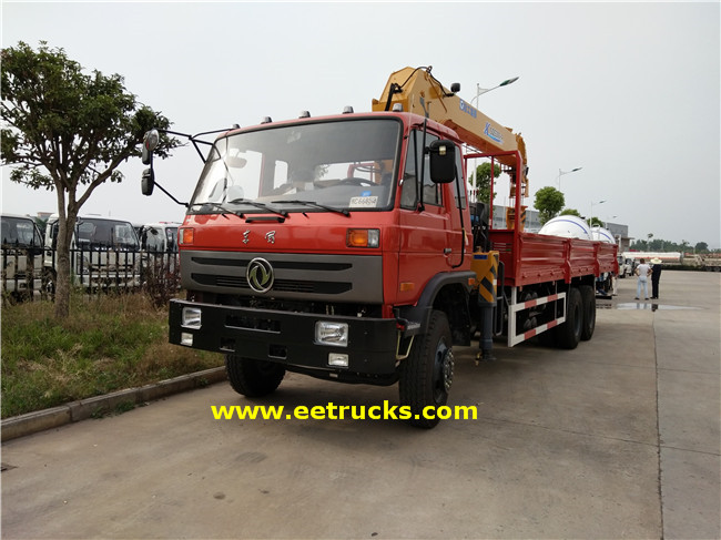 12 Wheeler 10T Hydraulic Crane Trucks