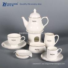 Logo Customized Plain Style Keramik Tee Set, Knochen China Chinesisch Tee Set