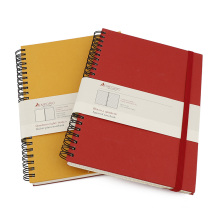 Custom printing 2020 pocket hardcover spiral diary planner with elastic strap