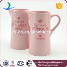 Buena calidad Rosa moderna caldera de cerámica jarra de agua de venta caliente