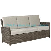 Wicker Furniture 3 Seater Sofa with Waterproof Cushion