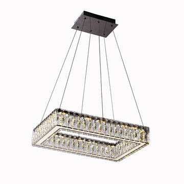 Lustre en cristal K9 Rectangle Chandelier sur mesure
