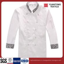 Белый цвет полиэстер / хлопок шеф-повар ткани