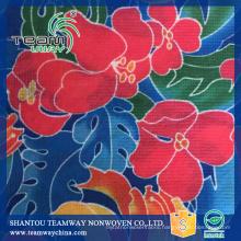 Flower heat transfer printing Stitch-bonded fabric PET nonwoven