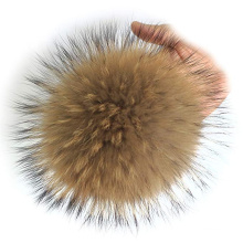 DIY Accessories Real Raccoon Fur Pom Pom for Knitting Hat