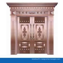 Luxury real copper bronze door entry door security double main entrance door