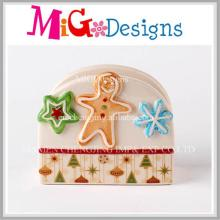 Christmas Ginger Bread Ceramic Napkin Holder Decoration