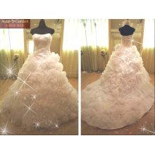 Robe de mariée en satin de tailleur de style unique de haute qualité RB046