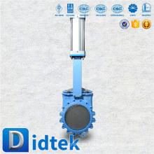 Didtek marca internacional válvula de compuerta de cuchillo neumático