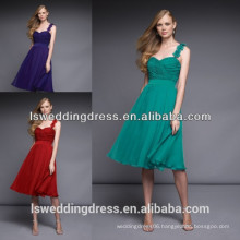 HB2013 New arrival green chiffon one shoulder lace strap bridesmaid dress