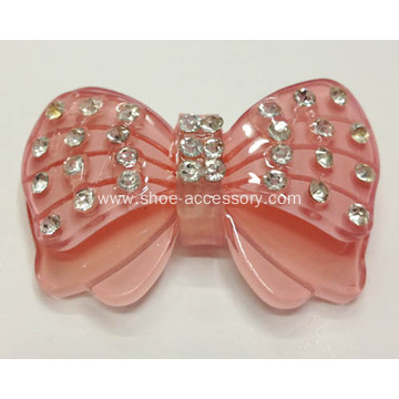 Bowknot Acrylic Rhinestone Buckle for Ladies and Kids