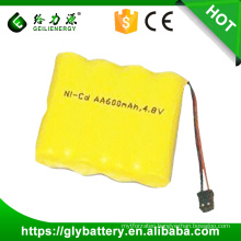 4.8v 700mah rechargeable ni-cd aa battery pack