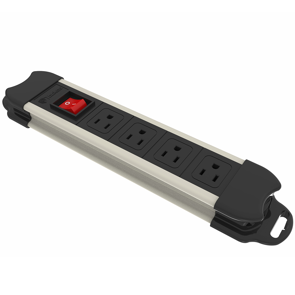Flexible Electrical Power Strip 4 Outlets