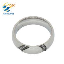 Popular Fashion Design Cheap Sample Custom Made Stainless Steel Wedding Ring