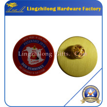 Brass Gold Offset Printing Metal Lapel Pin