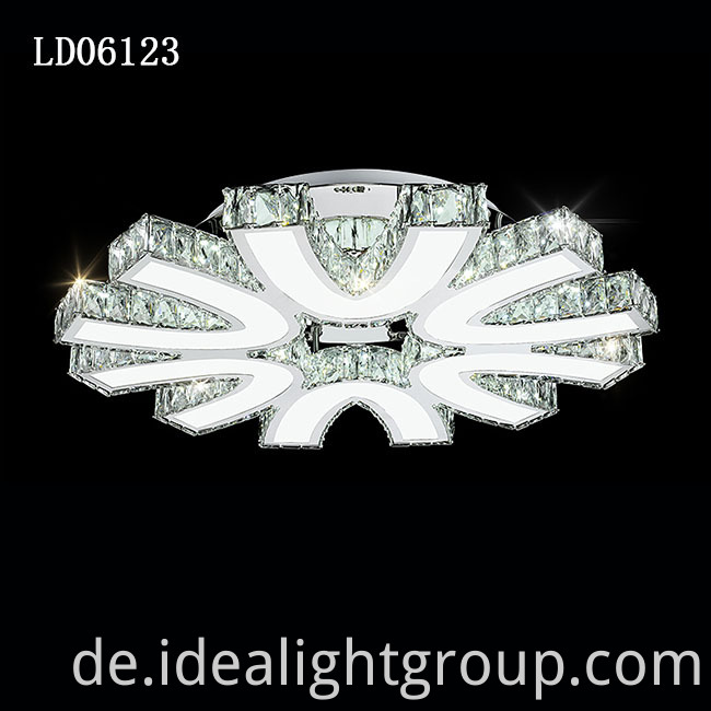 chrome led chandelier ceiling lamps