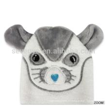 Long Service Life ratón blanco bebé con capucha toallas rectangulares toalla de fibra de bambú orgánica llanura teñido y conjunto de paños
