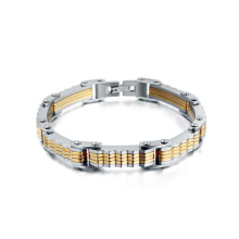 Silver and gold biker bracelet,motorcycle jewelry wholesale