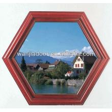 Octagon fixe fenêtre en aluminium avec verre dépoli