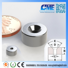 N42 D12.7X6.35mm Starker Counterboye Ring Neodym Magnet