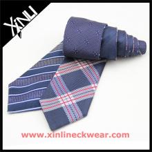 Kundenspezifische Seide gewebt reversibel in 4 Designs Fabrik Werbe Krawatte