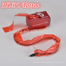 Hot Sale Plastic Tattoo Red Clip Cord Sleeves Bag