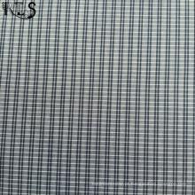 Poplin de algodão tecida de fios tingidos tecidos para camisas de Garmrnts/vestido Rls70-2po