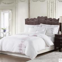 Canasin 5 étoiles hôtel Satin Plain linge de lit 100 % coton blanc