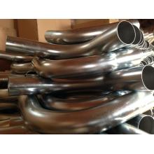 Curva del aspirador industrial plateado cinc de alta presión de 76m m diámetro 90degree